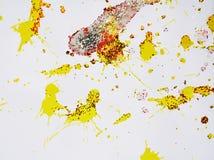 Iskrzastej białej szarej złocistej czerwonej akwareli abstrakcjonistyczny tło, wzór Zdjęcie Royalty Free