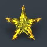 Iskrzasty błyszczący kolor żółty gwiazdy gemstone Obrazy Stock