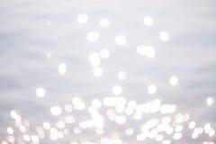 Iskrzasty Biały tło, Bokeh wakacyjna tekstura, abstrakt/ Fotografia Royalty Free