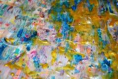 Iskrzasty woskowaty abstrakcjonistyczny tło, akwareli żywy tło, tekstura Obraz Stock