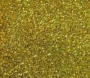 Iskrzasty Złoty tło z wielkimi cekinami Obraz Stock