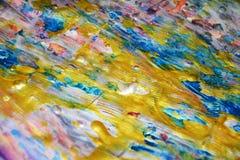 Iskrzastych złoto menchii woskowaty abstrakcjonistyczny tło, akwareli żywy tło, tekstura Obraz Stock