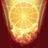 Iskuber och citronskiva Arkivfoton