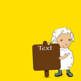 Islâmico árabe do Eid-Ul-Adha do texto no fundo amarelo Foto de Stock Royalty Free