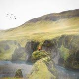Islândia de exploração Fotografia de Stock Royalty Free
