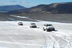 Islândia - fora da estrada na geleira Imagem de Stock Royalty Free