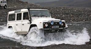 Islândia - fora da estrada na geleira Fotos de Stock