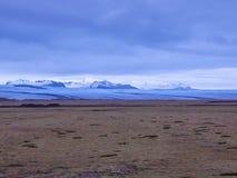 Islândia - geleira e deserto foto de stock royalty free