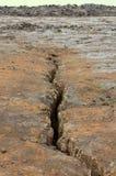 Islândia, montanhas aproxima o vulcano Krafla Imagens de Stock