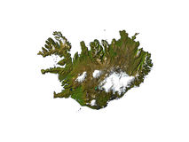 Islândia no fundo branco Foto de Stock Royalty Free