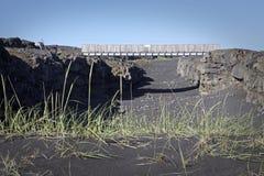Islândia: Ponte entre dois continentes fotografia de stock