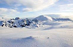 Islândia - tempo de inverno Imagem de Stock