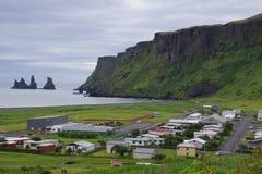 Islândia vista das pescas à corrica de Vik Fotografia de Stock