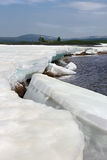 Isläggning på The Creek Fotografering för Bildbyråer