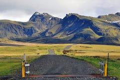 Isländische Berge Stockfoto