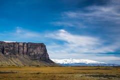 Isländische Berge und glacer Stockbilder