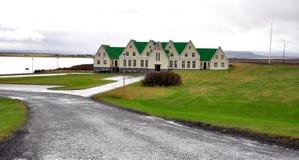 Isländische Häuser Stockbilder