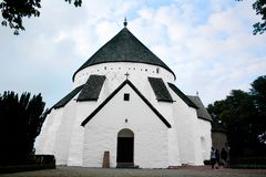 Isländische Kirche in Nord-Island stockbild