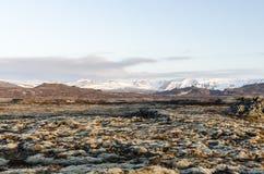 Isländische Landschaft, vulkanisch und schön lizenzfreies stockfoto