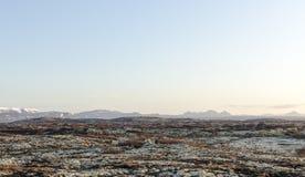 Isländische Landschaft, vulkanisch und schön lizenzfreie stockbilder