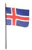 Isländische Markierungsfahne Stockfotografie