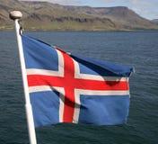 Isländische Markierungsfahne Lizenzfreie Stockfotos