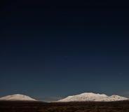 Isländische Mitternachtslandschaft Stockfoto