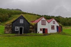 Isländische Rasenhäuser Lizenzfreies Stockbild