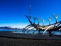 Isländische Skulptur stockfotos
