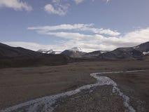 Isländische wilde Landschaftsansicht Island atemberaubend stockfoto