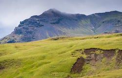 Isländischer Abhang Stockfoto