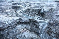 Isländischer Gletscher mit Bruch Lizenzfreies Stockfoto