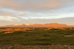 Isländischer Sonnenuntergang Lizenzfreie Stockbilder