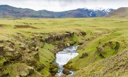 Isländischer Wasserfall Lizenzfreies Stockfoto