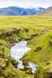 Isländischer Wasserfall Stockfoto