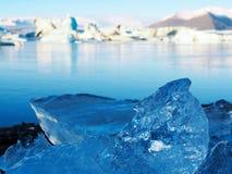 Isländisches Eis Lizenzfreies Stockfoto