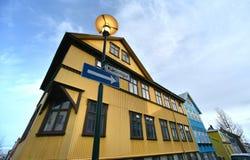 Isländisches Gebäude Stockfotografie