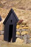 Isländisches Grasscholle-Haus Lizenzfreie Stockfotos