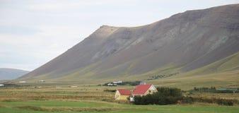 Isländisches Gutshaus Stockfotografie