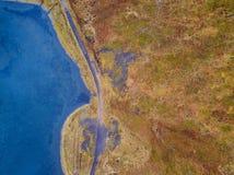 Isländisches Luftbildfotografie gefangen genommen durch Brummen Lizenzfreies Stockfoto