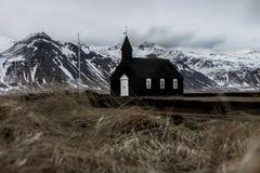 Isländsk Budir kyrka royaltyfria foton