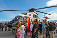 Isländsk coastguardhelikopter TF-LIF Arkivbilder