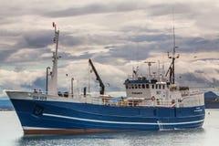 Isländsk fiskebåt Royaltyfria Bilder