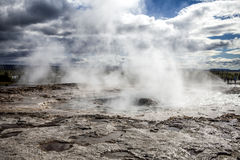 Isländsk geyser Arkivfoto
