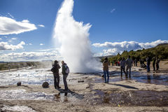Isländsk geyser Arkivbilder