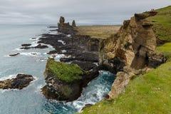 Isländsk landschap i sommartid Royaltyfri Fotografi