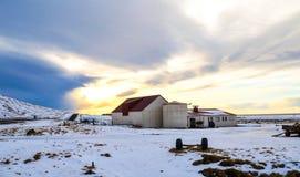 Isländsk lantgård Royaltyfria Bilder