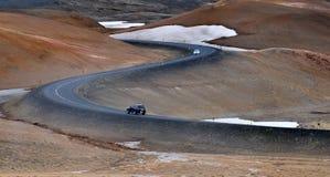 Isländsk vägtur Arkivfoto