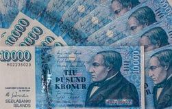 Isländsk valuta Arkivbild