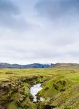 Isländsk vattenfall Royaltyfria Bilder
